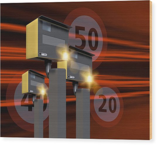 Traffic Speed Cameras Wood Print by Victor Habbick Visions