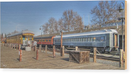 Trains Wood Print by Barry Jones