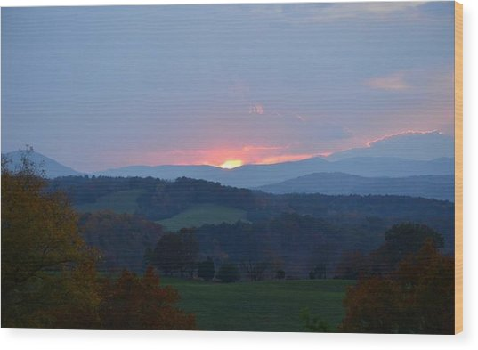 Tranquill Sunset Wood Print
