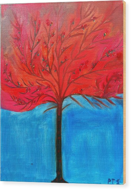 Transition To Spring Wood Print by Prachi  Shah