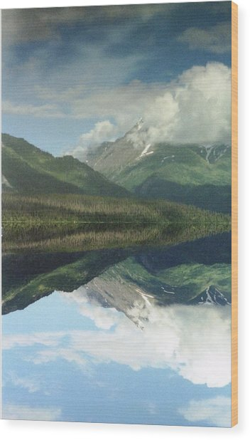 Traveling To Seward Wood Print by Ann Marie Chaffin