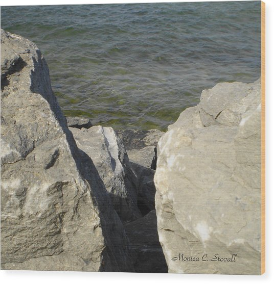 Traverse Bay Shoreline Collections - Michigan Wood Print