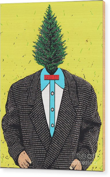 Tree Man Wood Print