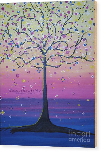 Tree Of Inspirations Wood Print