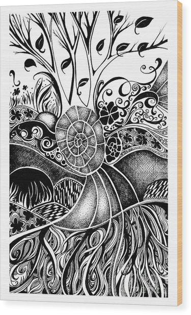 Tree Series 44 Wood Print