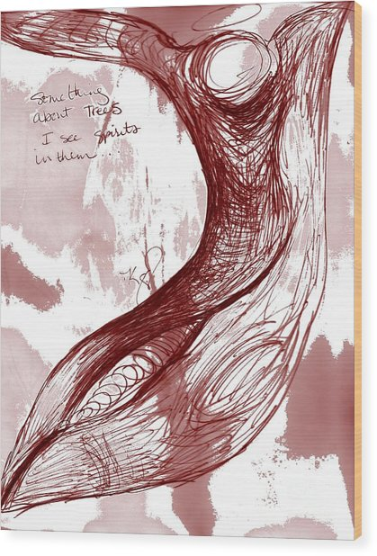 Tree Spirit 1 Wood Print