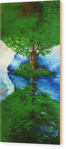 Trees Wood Print by Douglas Martin