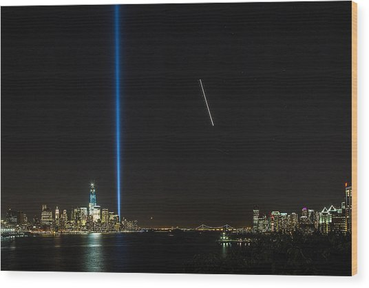 Tribute In Light Wood Print by John Dryzga