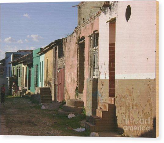 Trinidad Cuba Wood Print by Laurel Fredericks