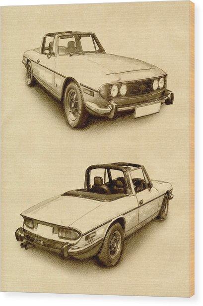 Triumph Stag Wood Print