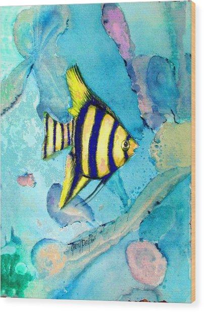 Tropical Fish I Wood Print