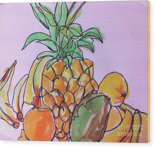 Tropical Snack Wood Print