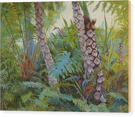 Tropical Underwood Wood Print