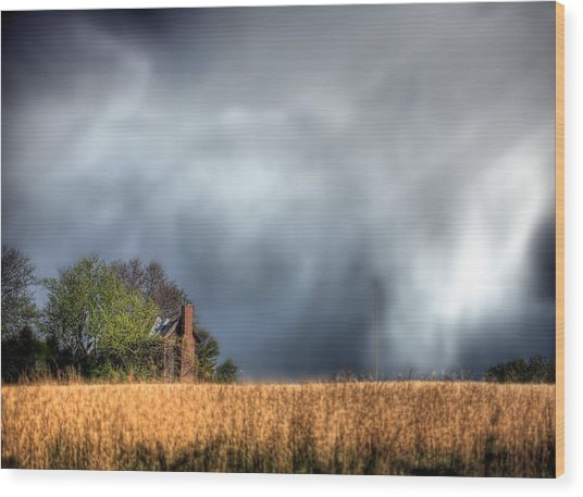 Trouble Brewing  Wood Print by JC Findley
