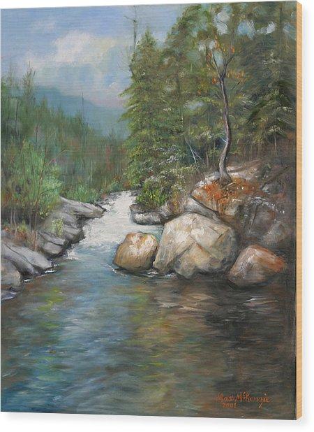 Trout Stream Wood Print by Max Mckenzie