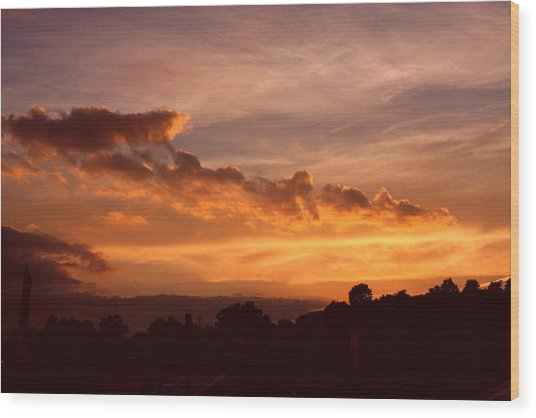 Trowbridge Sunset Wood Print