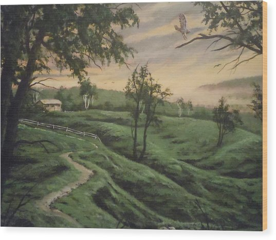 Troy Hill Farm Wood Print