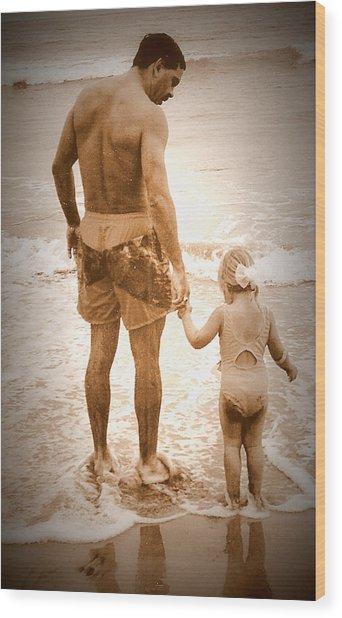 Trusting Daddy Wood Print