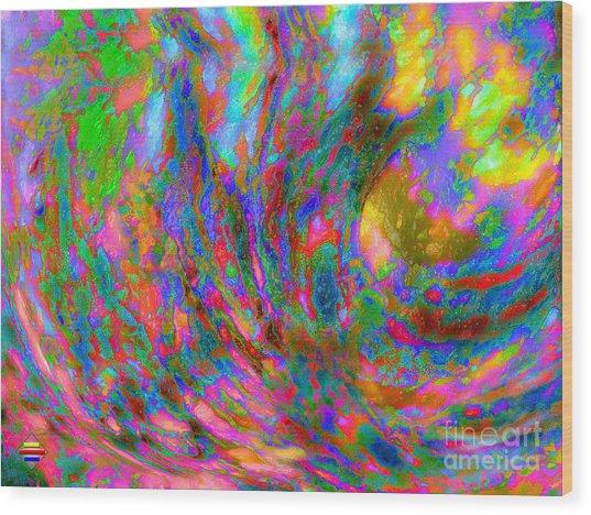 Tsunami Wood Print by Vidka Art
