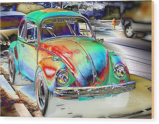 Turbo Bug Wood Print