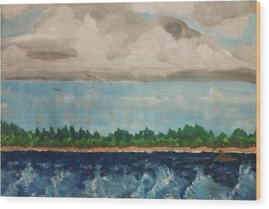 Turbulent Wood Print by Jeanette Stewart