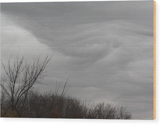 Turbulent Sky Wood Print