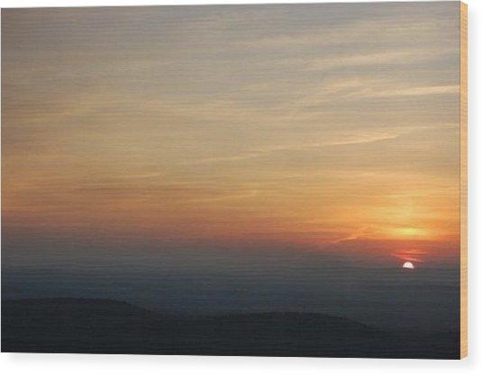 Turkey Heaven Sunset Wood Print by Beverly Hammond
