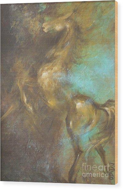 Turquoise Dust 2 Wood Print