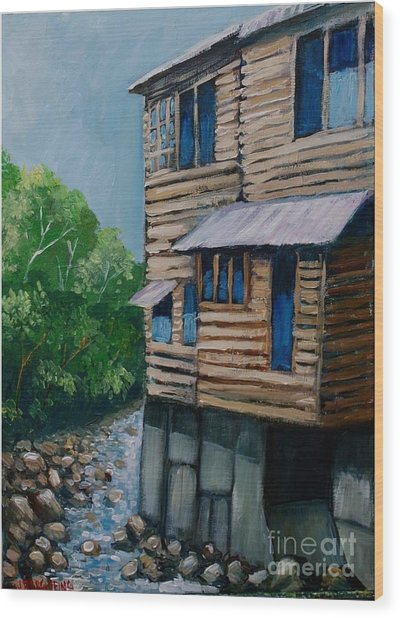Turrialba's House Wood Print