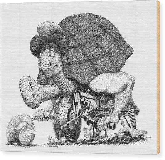 Turtle Thing Wood Print by Olin  McKay