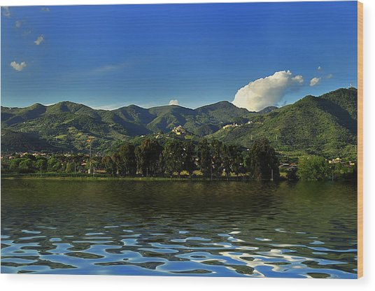 Wood Print featuring the photograph Tuscany Lunigiana Mounts Landscape by Enrico Pelos