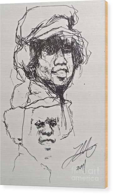 Twice Michael Wood Print