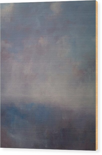 Twilight Mist Over The Arreton Valley Wood Print by Alan Daysh