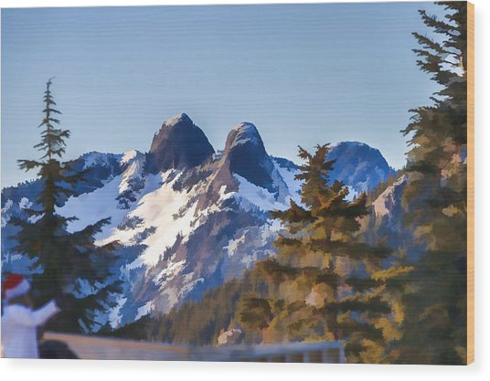 Twin Peaks Painting Wood Print