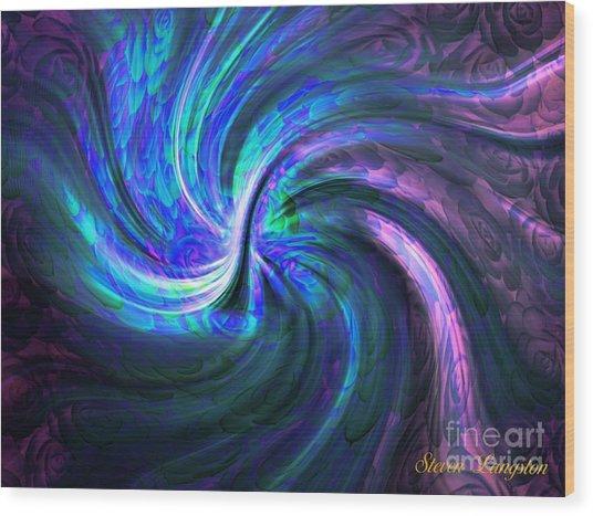 Twisted A Rose Wood Print