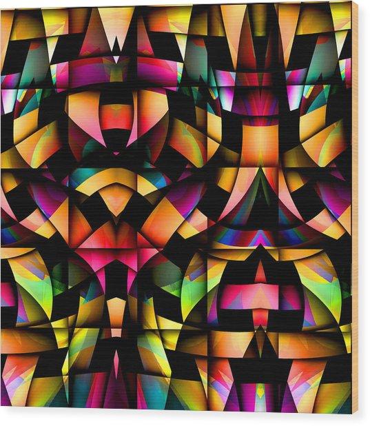 Wood Print featuring the digital art Twisted by Visual Artist Frank Bonilla