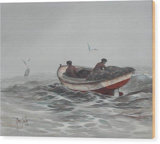 Two Fishermen Wood Print