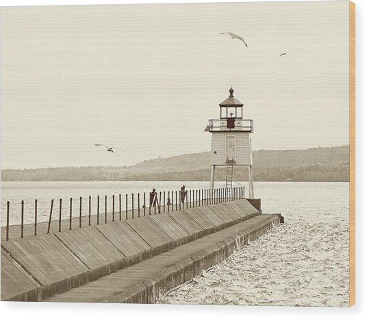 Two Harbors Wood Print