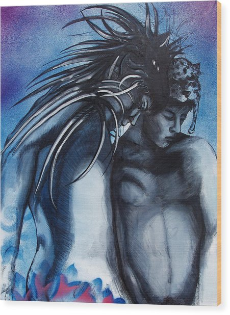 Wood Print featuring the painting Two Kinds Of Love by Rene Capone