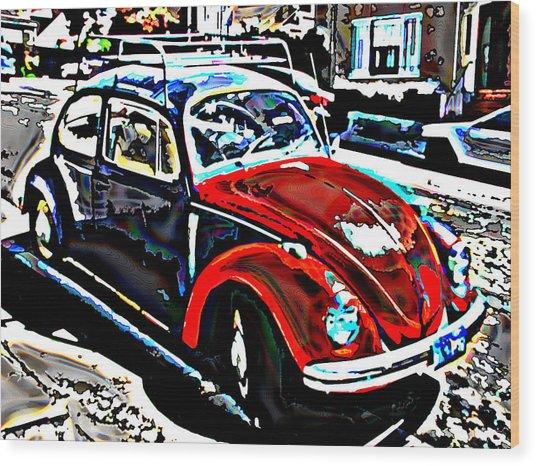 Two Toned Vw Beetle Wood Print