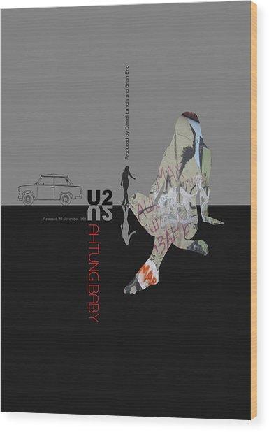 U2 Poster Wood Print