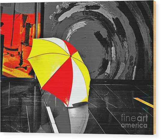 Umbrella 2 Wood Print
