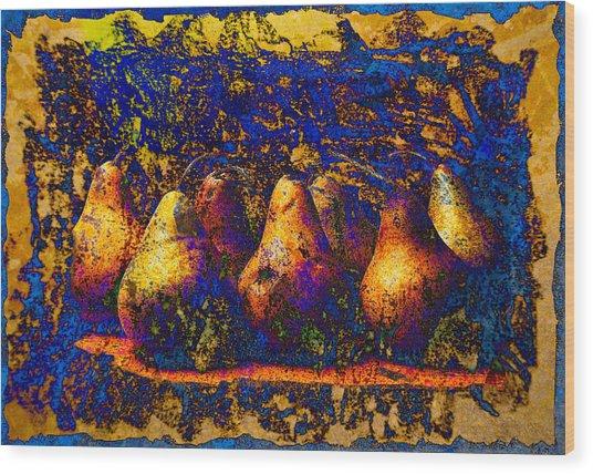 Unborn Pears Wood Print