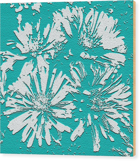Under A Turquoise Sky Wood Print by Yvonne Scott