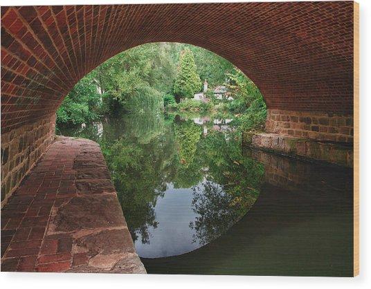 Under The Bridge Wood Print by Shirley Mitchell