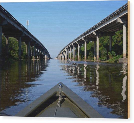 Under The Interstate Wood Print