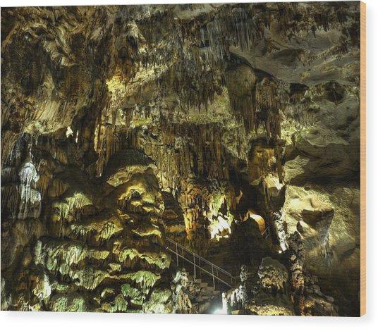 Underground Cave Wood Print by Martin Marinov