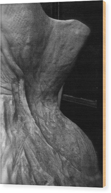 Undressed In Black And White Wood Print