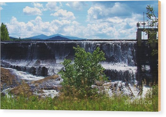 Union Falls  Wood Print by Peggy Miller