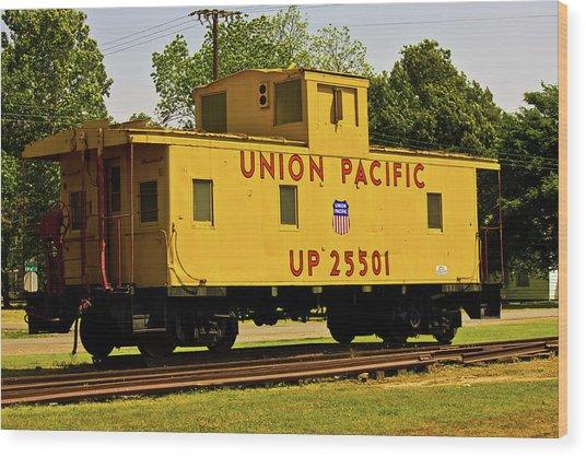 Union Pacific Wood Print by Barry Jones